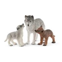 Schleich 42472 Wild Life Wolfsmutter mit Welpen