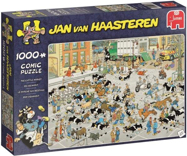 Jumbo 19075 Jan van Haasteren - Der Vieh-Markt 1000 Teile Puzzle