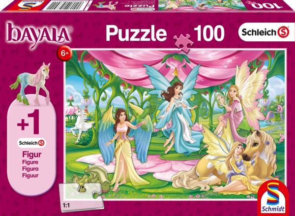 Schmidt 56301 Im Kronsaal von Bayala 100 Teile Puzzle (+Zusatz Schleich)