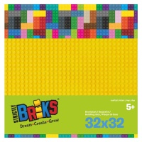 Strictly Briks Stackable Baseplate gelb 25 x 25 cm,...