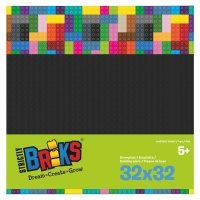 Strictly Briks Stackable Baseplate schwarz 25 x 25 cm,...