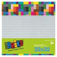 Strictly Briks Stackable Baseplate hellgrau 25 x 25 cm,...