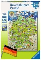 Ravensburger 10049 Meine Deutschlandkarte 150 Teile XXL...