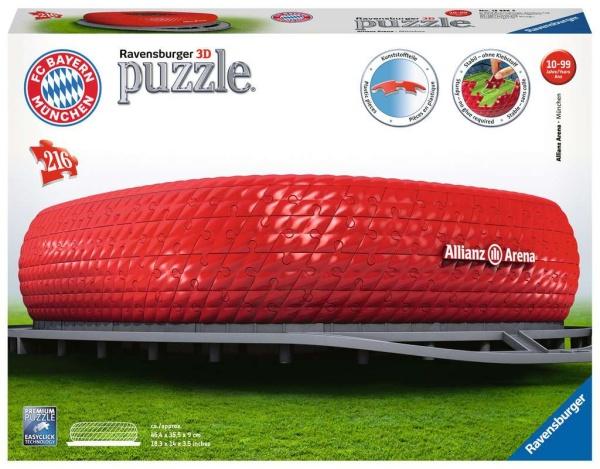 Ravensburger 12526 Allianz Arena 216 Teile 3D Puzzle