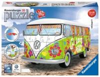 Ravensburger 12532 Volkswagen T1 Hippie Style 162 Teile 3D Puzzle