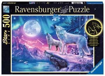 Ravensburger 14952 Wolf im Nordlicht 500 Teile Starline Puzzle