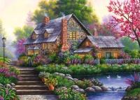 Ravensburger 15184 Romantisches Cottage 1000 Teile Puzzle