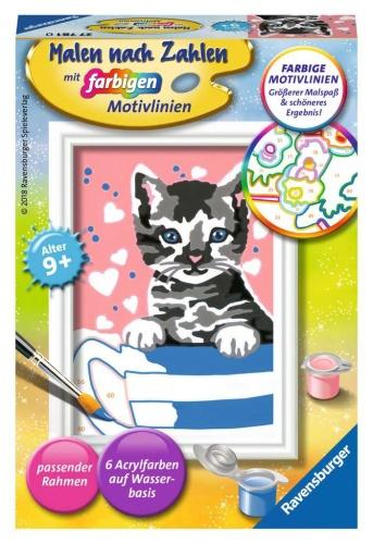 Ravensburger 27781 Kleines Kätzchen Malen nach Zahlen