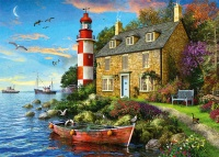 Jumbo 11247 Falcon - The Lighthouse Keepers Cottage 1000 Teile Puzzle