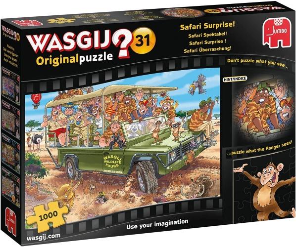 Jumbo 19164 Wasgij Original 31 - Safari Überraschung! 1000 Teile Puzzle