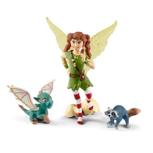 Schleich 70581 bayala MOVIE Elfe Marween mit Drachen Nugur und Waschbär Piuh