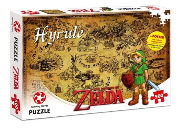 Winning Moves 11125 The Legend of Zelda 11125 Hyrule Field 500 Teile Puzzle