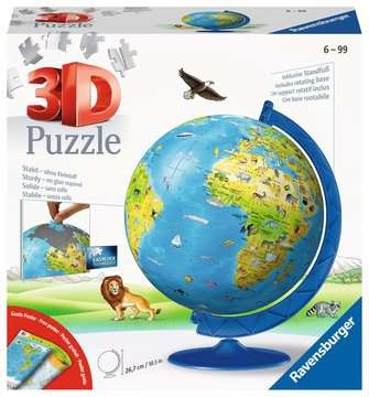 Ravensburger 11160 - 180 Teile 3D Puzzle Kinderglobus in deutscher Sprache