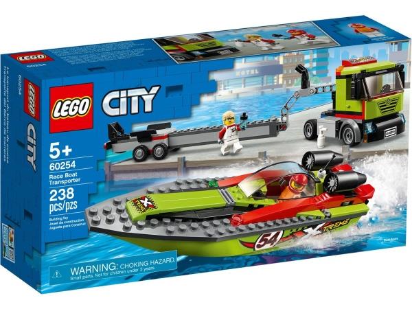 LEGO 60254 City Rennboot-Transporter