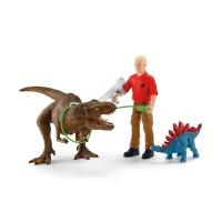 Schleich 41465 Dinosaurier Tyrannosaurus Rex Angriff