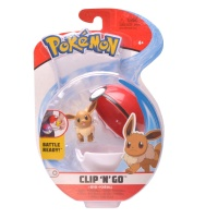 Pokemon Clip N Go Set Evoli & Pokeball Wave 5