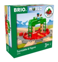 Ravensburger 33476 BRIO Lok-Drehscheibe mit Kontrollbrücke