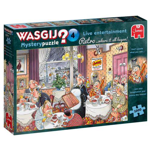 Jumbo 19177 Wasgij Retro Mystery 4 Live-Unterhaltung! 1000 Teile Puzzle