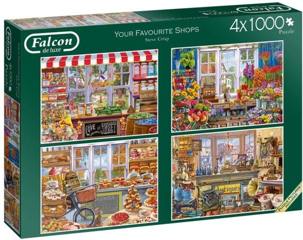 Jumbo 11249 Falcon - Deine Lieblingsläden 4x 1000 Teile Puzzle