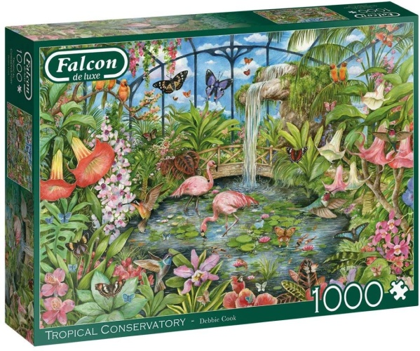 Jumbo 11295 Falcon - Tropical Conservatory 1000 Teile Puzzle