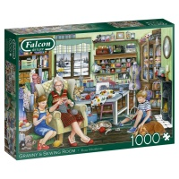 Jumbo 11273 Falcon - Granny´s Sewing Room 1000 Teile Puzzle