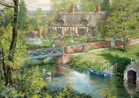 Jumbo 11261 Falcon - Romantic Countryside Cottages 2x 500 Teile Puzzle