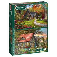 Jumbo 11294 Falcon The Woodland Cottage 2x 1000 Teile Puzzle