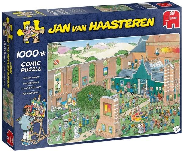 Jumbo 20022 Jan van Haasteren - Der Kunstmarkt 1000 Teile Puzzle