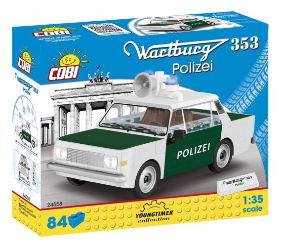 Cobi 24558 Bausatz Wartburg 353 Polizei 84 Teile Bausatz