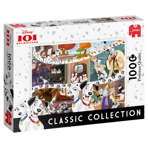 Jumbo 19487 Disney Classic Collection 101 Dalmatiner 1000 Teile Puzzle