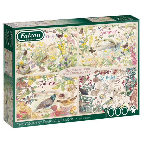 Jumbo 11307 The Country Diary 4 Seasons 1000 Teile Puzzle Falcon de Luxe