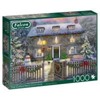 Jumbo 11313 Falcon The Christmas Cottage 1000 Teile Puzzle