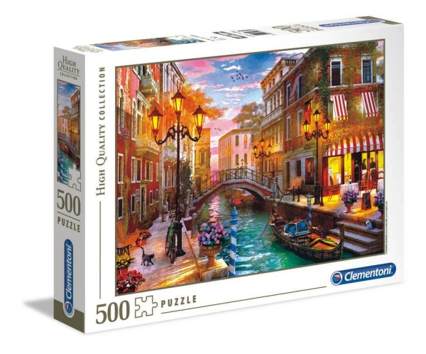 Clementoni 35063 Sonnenuntergang über Venedig 500 Teile Puzzle High Quality Collection