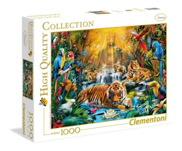 Clementoni 39380 Geheimnisvolle Tiger 1000 Teile Puzzle High Quality Collection