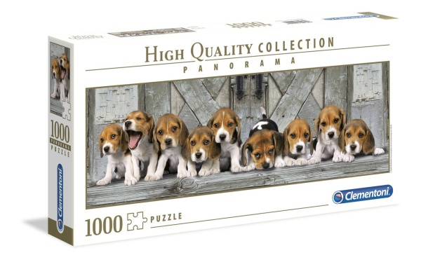 Clementoni 39435 Beagles 1000 Teile Puzzle High Quality Collection Panorama