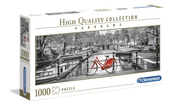 Clementoni 39440 Amsterdam Fahrrad 1000 Teile Puzzle High Quality Collection Panorama