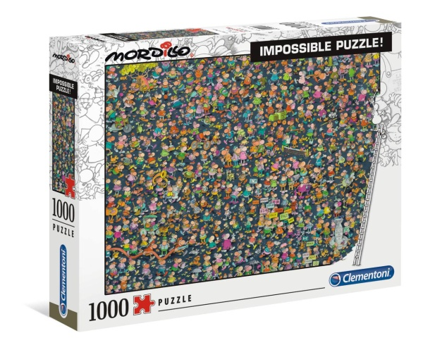 Clementoni 39550 Mordillo Impossible 1000 Teile Impossible Puzzle