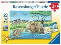 Ravensburger 05095 Tierkinder aus aller Welt 2x12 Teile...