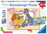 Ravensburger 05087 Disneys liebste Welpen 2x24 Teile Puzzle