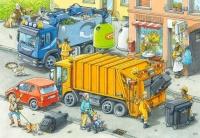 Ravensburger 05096 Müllabfuhr und Abschlepper 2x24 Teile Puzzle