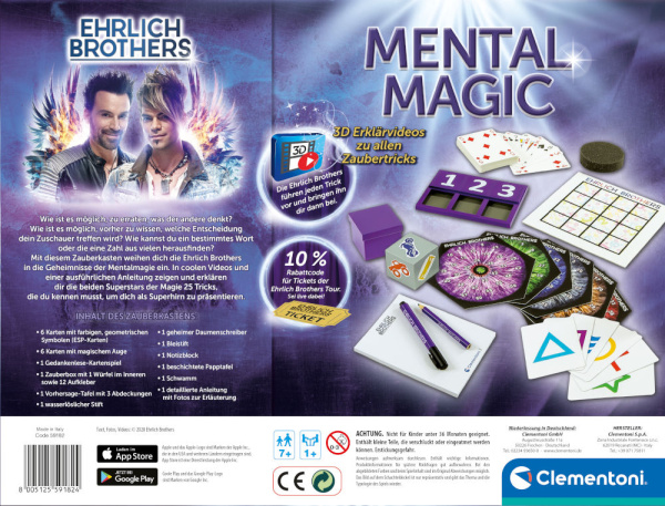 Clementoni 59182 Ehrlich Brothers Mental Magic Zauberkasten