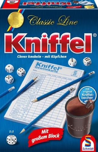 Schmidt 49203 Classic Line, Kniffel, mit großem Spielblock Familienspiel - Classic Line