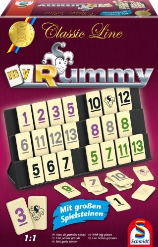 Schmidt 49282 Classic Line, MyRummy, mit großen Spielfiguren Familienspiel - Classic Line