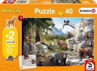 Schmidt 56239 Die Tiere des Waldes 40 Teile Kinderpuzzle...