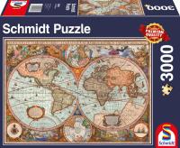 Schmidt 58328 Antike Weltkarte 3000 Teile Puzzle Panorama