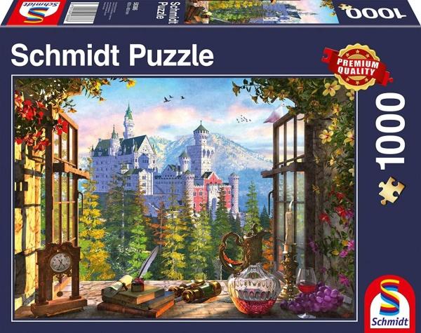 Schmidt 58386 Blick aufs Märchenschloss 1000 Teile Puzzle