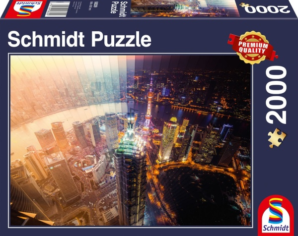 Schmidt 58239 Tag und Nacht -Zeitscheibe 2000 Teile Puzzle