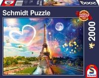 Schmidt 58941 Paris, Tag und Nacht 2000 Teile Puzzle