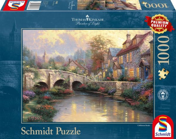 Schmidt 57466 Bei der alten Brücke Thomas Kinkade 1000 Teile Puzzle