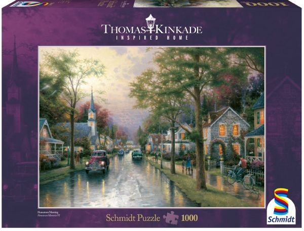Schmidt 58441 Morgen in der kleinen Stadt Thomas Kinkade 1000 Teile Puzzle